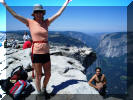 Yosemite Half Dome Hiker's Photo Gallery Picture