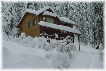 Cabin in Snow Photo