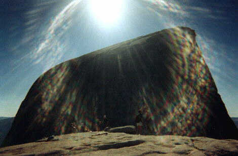 Picture of Half Dome sunshine.