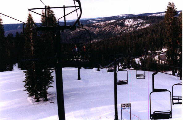 Picture of chair lifts at Badger Pass Ski Resort