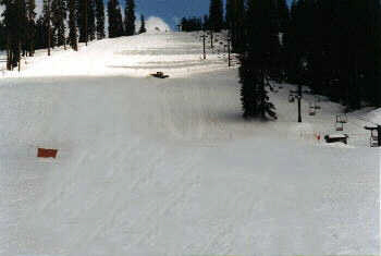 "Picture of 'Eagle"" ski run at Badger Pass Ski Resort."